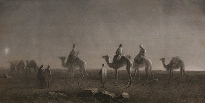 star-of-bethlehem-magi-wise-men-or-wise-kings-travel-on-camels-with-entourage-across-the-deserts-to-find-the-savior-moon-desert-holy-bible-etching-1885